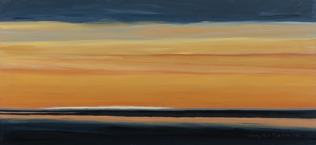 "Nancy Mitton, ""Light Over Long Island,"" oil on canvas, 30 x 64 in."